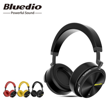 цена на Bluedio T5 Wireless Headphones hifi stereo Bluetooth noise cancelling headset with microphone for mobile phones