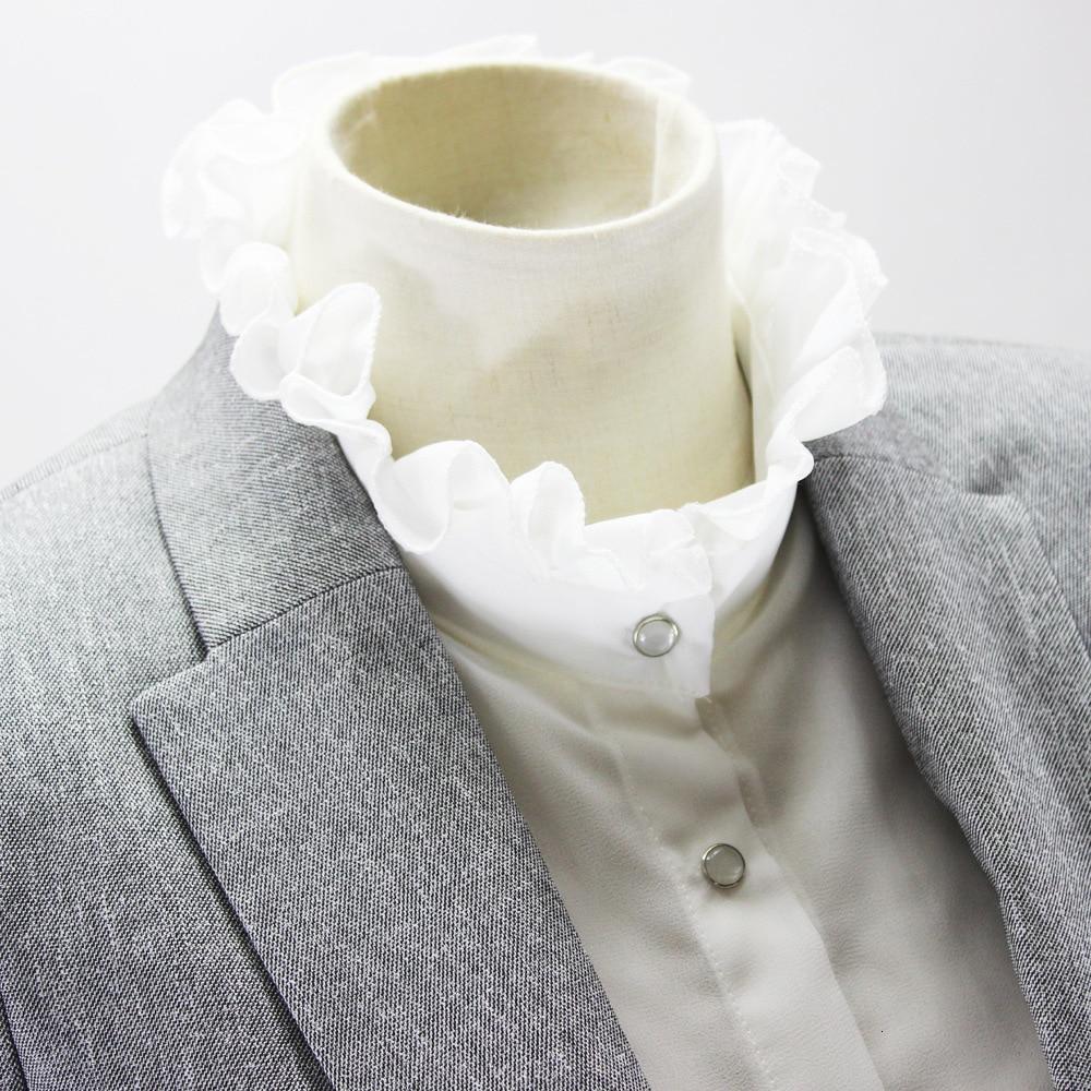 Chiffon Shirt Women Dickie Stand Near Lead Sweater Decoration Fake Collar Detachable 2019 Free Shipping