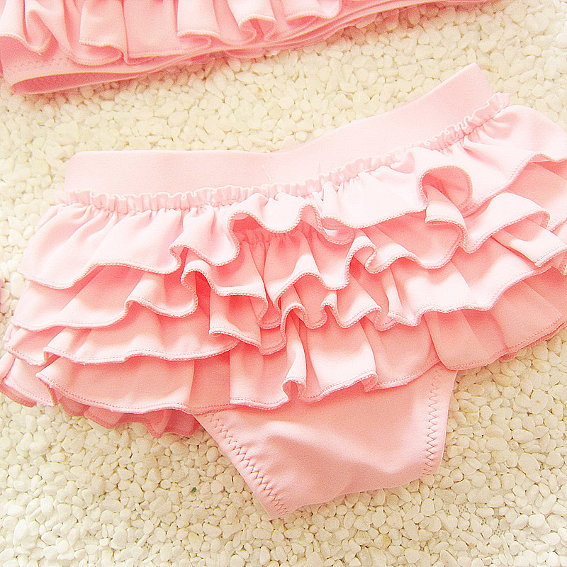 Three-piece Set Costume Swimwear Split Type Infants Princess CHILDREN'S Baby GIRL'S Bikini Swimming