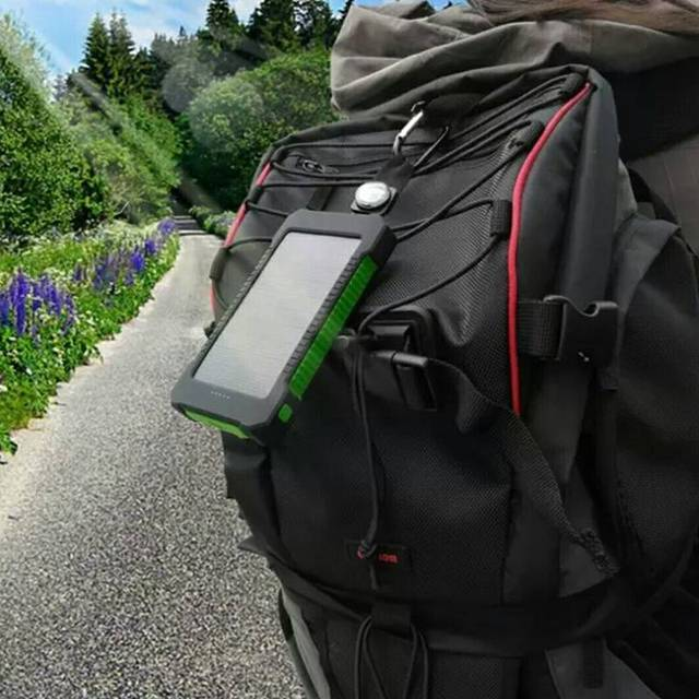 30000mah/20000mah Solar Power Bank Waterproof Solar Charger With Compasses LED Light 2 Usb Travel External Charger Powerbank