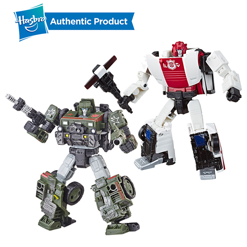 Hasbro Transformers Generations War For Cybertron Deluxe Hound And Red Alert Toy Collectibles Third Party Cartoon Optimus Prime