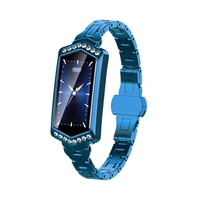B78 Smart Bracelet Female Heart Rate Step Sleep Physiological Cycle Monitoring Health Bracelet Blue