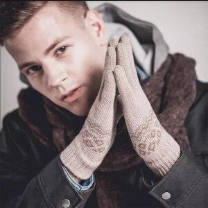 Image 4 - オリジナルyoupin fo指タッチスクリーン手袋女性男性冬暖かい用のベルベットの手袋電話タブレット誕生日クリスマスギフト