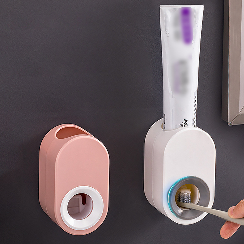 Automatic Toothpaste Dispenser Set Wall Mount Stand Holder Extrusion Squeezer Toothpaste Dispenser Tooth Paste Squeezers