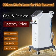 808nm laser do diodo para a máquina da remoção do cabelo de alta potência indolor seguro pé facial depilador 808nm comprimento de onda