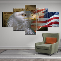 American Flag Animal 5 pcs Diamond Painting Cross Stitch 5D Diamond Embroidery Rhinestone mosaic eagle bird 3d Pictures wall art