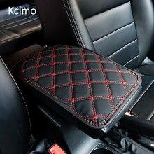 Tapis d'accoudoir de voiture en cuir, boîte de rangement universelle intérieure pour Auto, housse de coussin anti-poussière, imperméable