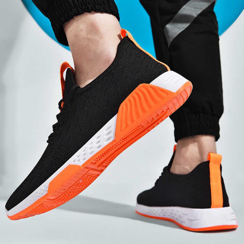 DIHOPE ผู้ชาย Breathable รองเท้าผ้าใบลื่น Vulcanize ชายรองเท้า Air Mesh Lace Up ลำลองรองเท้า Tenisb masculino