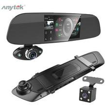 """Car Dash Dual Camera 5"""" 1080P FHD Car DVR Touch Rear View Mirror Camera G sensor Recorder Night Vision Dual Lens Dash Cam B33"""