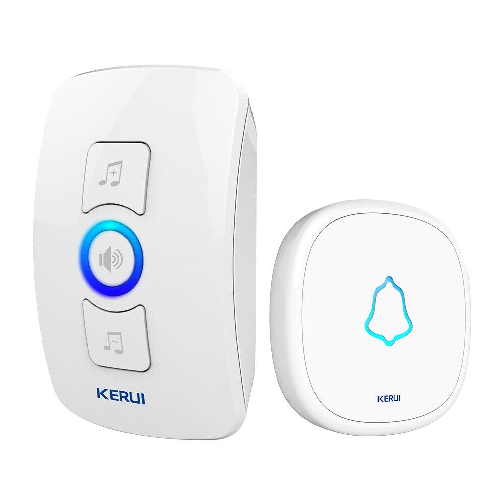 KERUI 32 Songs Wireless Long Range Smart Home Doorbell With Waterproof Push Button White Black EU AU US UK Plug Door Bell