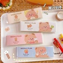 Cartoon Bear Cute Memo Pad Girl Mini Book Plan Book Portable Notepad Hand Message Tally Book Each Has Three Inner Pages