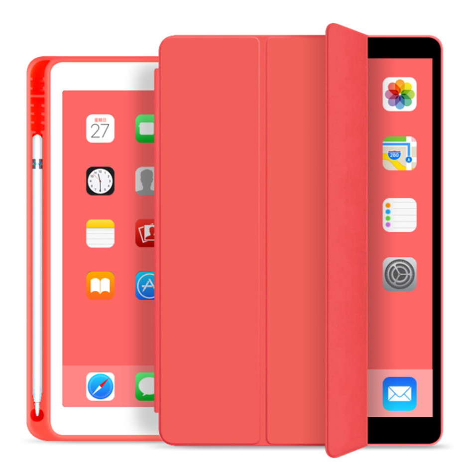 iPad 7 7th red Red For iPad 10 2 7th Generation Case with Pencil Holder for iPad 2019 10 2 Slim