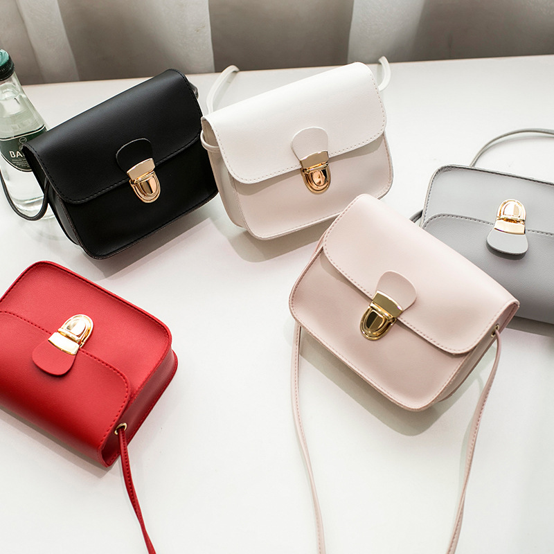 2019 New Fashion Ladies Messenger Bags Cheap Hasp PU Leather Small Shoulder Bags Women Crossbody Bag For Girl Brand Handbags in Shoulder Bags from Luggage Bags