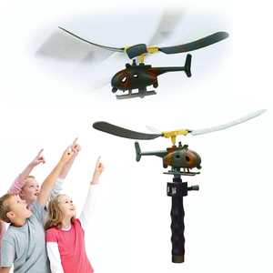 Children Aviation Model Copter Toys Handle Pull Helicopter Plane Outdoor Toys for kids Playing Drone Toys Gifts For Beginner Hot(China)