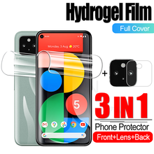 3 IN 1 Hydrogel Film For Google Pixel 4a 4G GA02099 Screen Protector Camera Protective Glass For Googlepixel5 6.0 inche Film