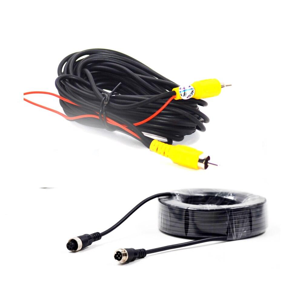 BYNCG AV-кабель Универсальный Автомобильный RCA AV-кабель провод жгут проводов для автомобильной камеры заднего вида парковки 6 м видео удлинител...