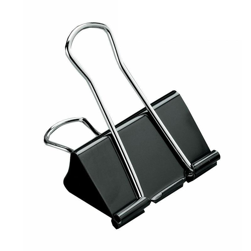 24pcs Foldback Clips 19mm Spring-Loaded File Organizer Metal Binder Holder Colorful