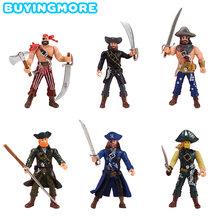 6 шт/партия Пиратская фигурка игрушка для мальчиков подарок