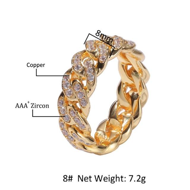 Luxury Men Watch Hip Hop Men Cross Crown Ice Out Cuban Necklace Watch&Necklace&Bracelet&Ring&Earrings Combo Set Hip Hop For Men