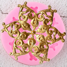 Chocolate Moulds Garland Flower Cake-Decorating-Tools Cupcake Candy-Clay Relief Fondant