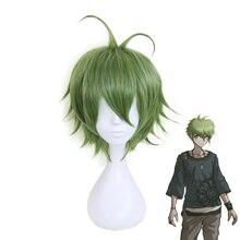 Anime Danganronpa Rantaro Amami Rantarou Green Short Wig Cosplay Costume Dangan Ronpa V3 Synthetic Hair Party Wigs
