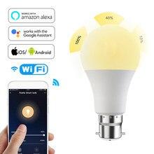 Ampoule intelligente WIFI, lampe d'éclairage pour la maison, 15W E27 B22 RGB + W LED, changement de couleur, variable, commande vocale, Alexa Google minuterie