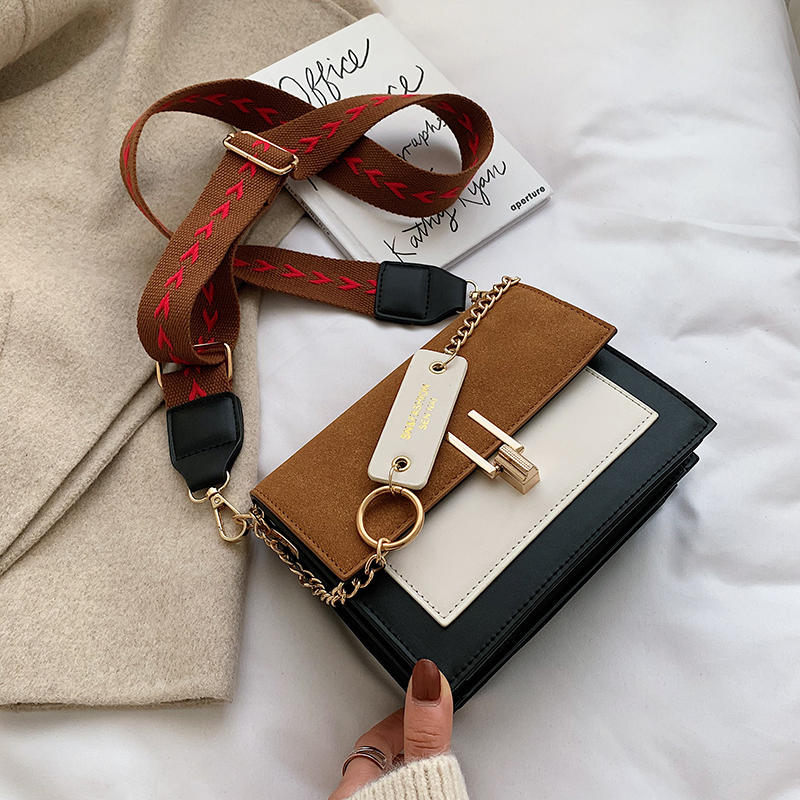 new mini handbags women fashion ins ultra fire retro wide shoulder strap messenger bag purse simple style Crossbody Bags 23