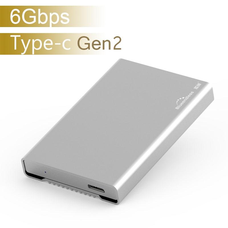 HDD Enclosure USB 3.1 Gen2 SATA HDD SSD Case Hard Disk Enclosure 2.5' 7-9.5-15mm TYPE-C Case For External Hard Drive