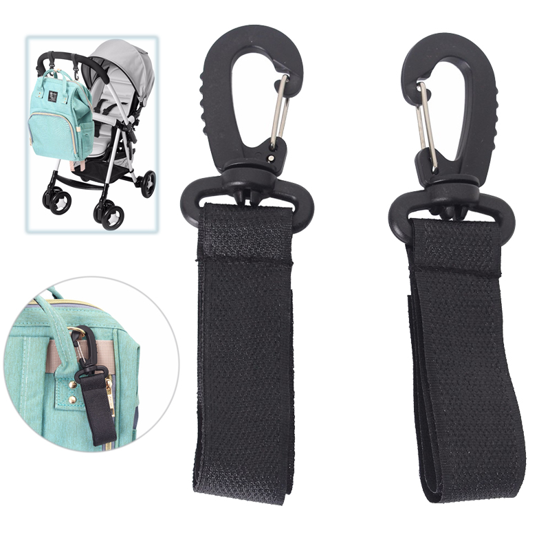 2 PCS Baby Stroller Hook Clasp Clip Metal Load-bearing Buckle Hanging Diaper Bag Holder Hooks Baby Stroller Accessories