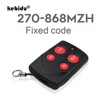 Kebidu רב עותק תדר RF 270 868mhz קוד עבור דלת מוסך שלט רחוק מעתק קוד קבוע מרחוק בקר