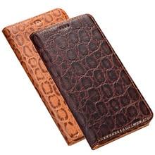Business flip calfskin genuine leather case for Mei