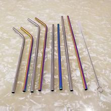 gooi stainless steel ts 10 11 15 straight and angled tweezerses 3 piece set 304 Stainless Steel Straw Hotel Coffee Tea With Milk Metal Bent Hand Straight Hand Straw 15 Piece Set