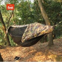 2in1 Große größe Multifunktionale insekt net wasserdichte winddicht ultraleicht fallschirm hängematte luft zelt Tragbare Outdoor Camping