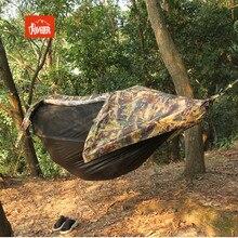 2in1 grande taille multifonctionnel insecte net imperméable à leau coupe vent ultra léger parachute hamac tente aérienne Portable Camping en plein air