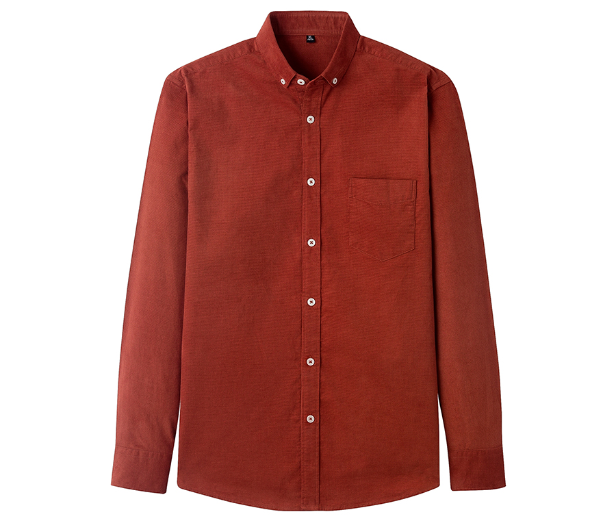 H80bd381bb2824b239c05f06b2b96b5aa2 Casual Mens Corduroy Shirt Pure Cotton Long Sleeve Brown Thick Winter XXL Regular Fit New Model Male Button Down Shirts