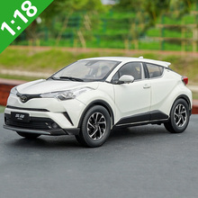 Diecast Model C-HR Toyota Collection Car Miniature Alloy Toy White Red 1:18 Gifts Silver