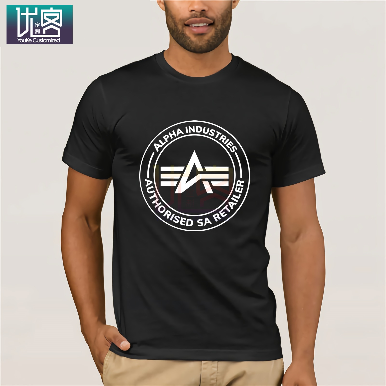 Mens Fashion 2019 Alpha Industries T-shirt Cotton Short Sleeves Tee Shirt Casual  Tee Shirt Summer Hipste Tees Tops