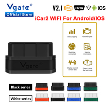 Vgate herramienta de diagnóstico de coche iCar2 ELM327 v2.1, adaptador wifi OBD OBD2 para Android/IOS, escáner automático Elm 327 odb2, lector de código