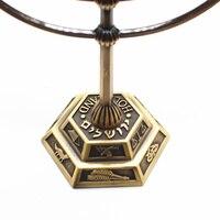 Menorah metal candle holder brass