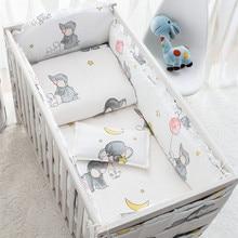 6/9pcs Elephant crib bumper baby bedding set bebe girls boy