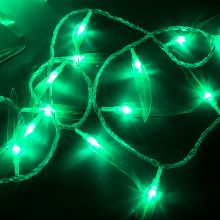Toprex LED lighting decoration green willow leaves string lights wedding decoration xmas tree light new year decoration