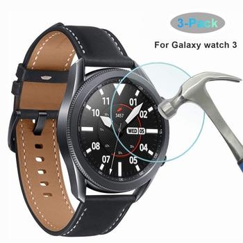Стеклянная пленка для Samsung Galaxy Watch 3, 41 мм, 45 мм, защита для экрана, закаленное стекло, экран, совместимый с Samsung Galaxy 3, 45 мм, 41