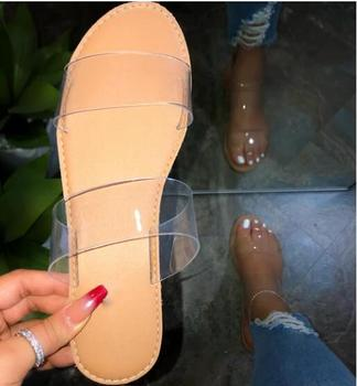 Fashion Women Slipper Summer Beach Outdoor Sandal Black Transparent Platform Flip Flop Elegant Slides 2020 New