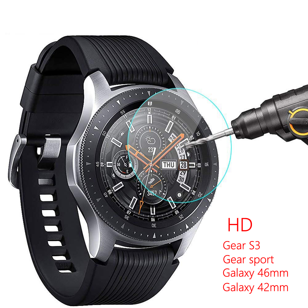 Galaxy Watch 46mm For Gear S3 Samsung Galaxy Watch 42mm Gear Sport Band S2 Screen Protector 9H 2.5D S 3 Frontier Tempered Glass