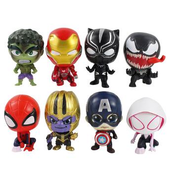 8 sztuk 8cm nieskończoność wojna Avengers figurki Thanos Hulk Thor Iron Man czarna pantera kapitan ameryka Spiderman Venom Gwen zabawki modele tanie i dobre opinie Disney CN (pochodzenie) Unisex 8 cm No Fire 8cm-9cm PIERWSZA EDYCJA STARSZE DZIECI 2-4 lata 5-7 lat 8-11 lat 12-15 lat Wyroby gotowe