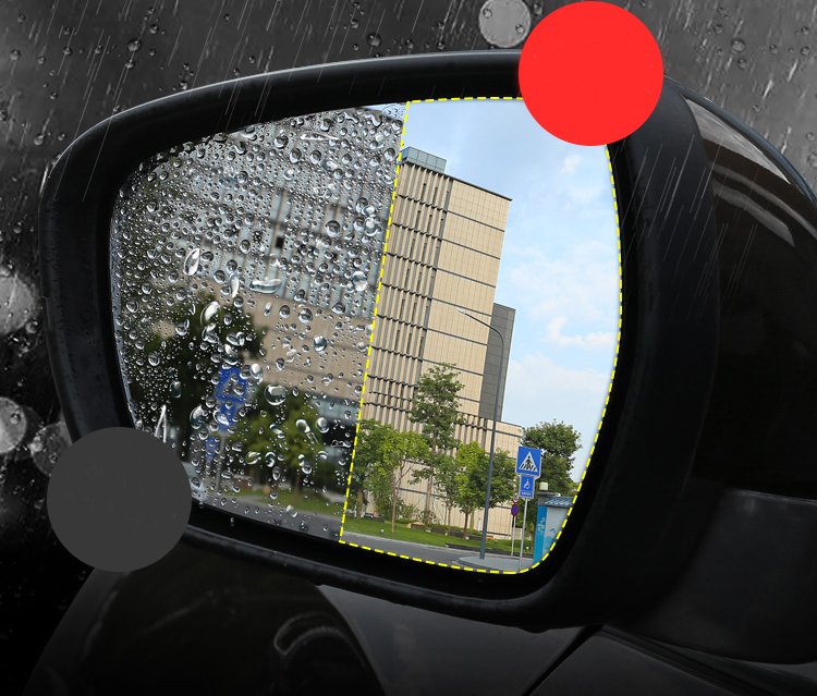 Lsrtw2017 Nano Car Rearview Waterproof Mirror Film for Geely Boyue Atlas 2016 2017 2018 2019 2020 Interior Mouldings Accessories
