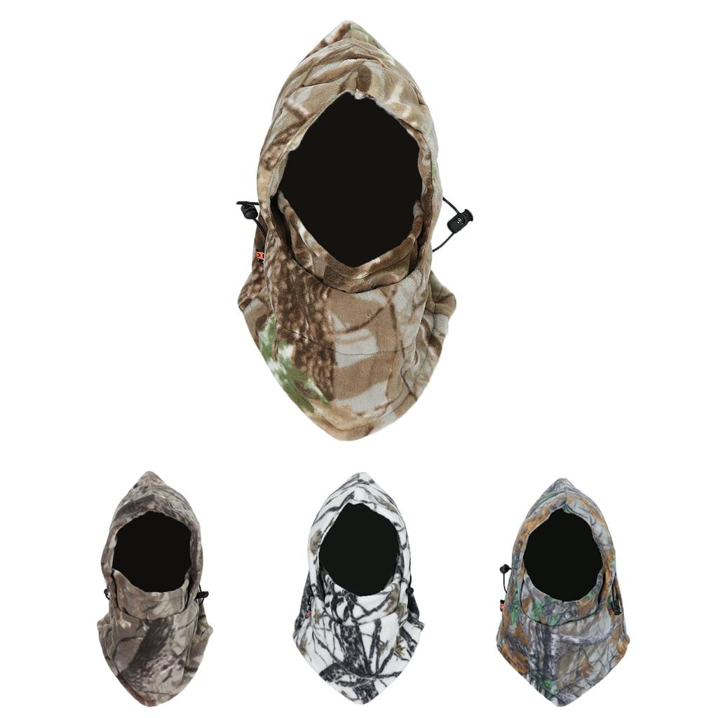 Camouflage Windproof Warm Winter Sports Ski Cycling Fleece Balaclava Hat Cap Neck Hood Face Mask Winter Sports Face Mask