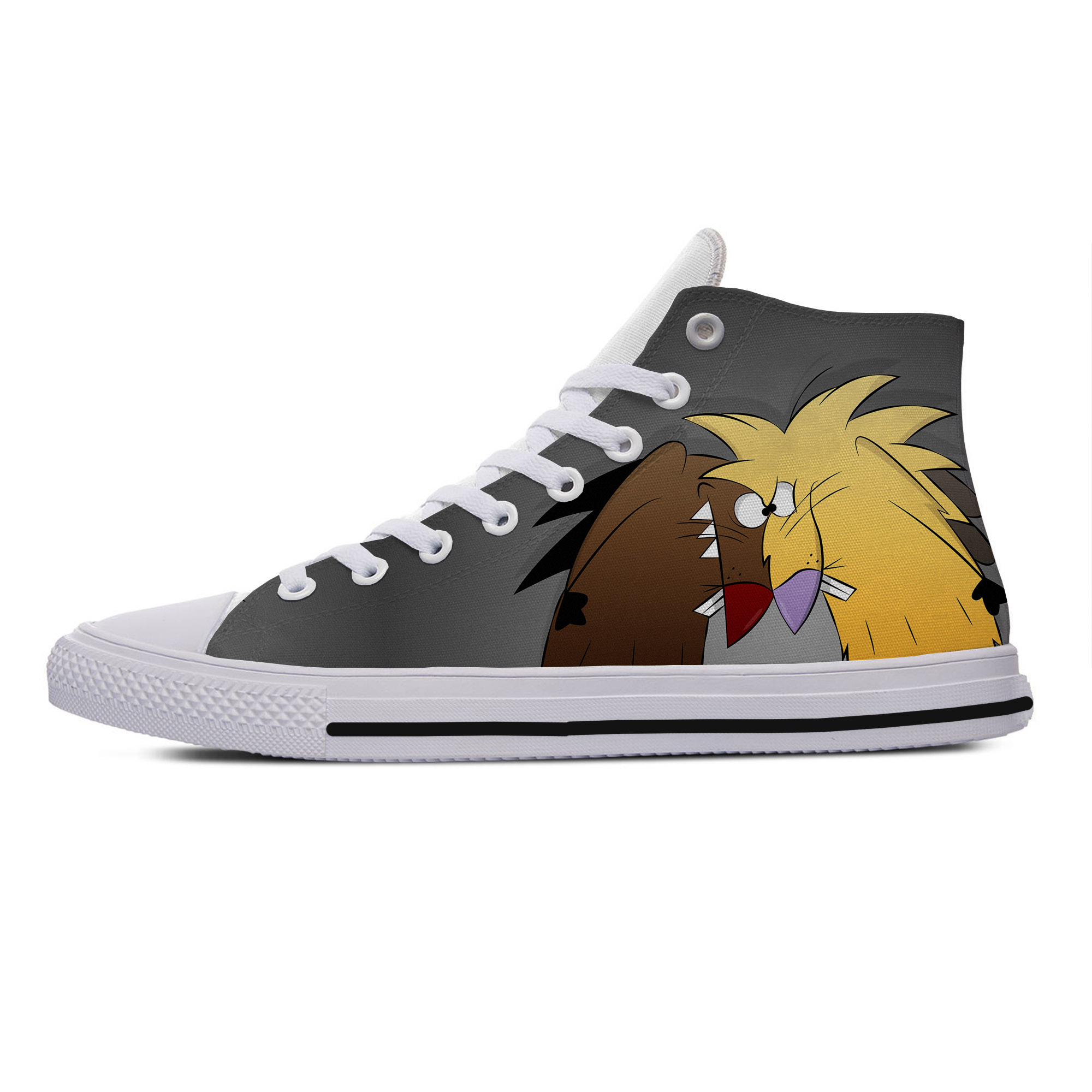 2019 Hot Latest The Angry Beavers Classic Shoes Man/Waman Lightweight Fashion Breathable Casual Canvas Shoes High Help Sneakers