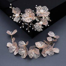 Novo metal flor tiara feminino cabelo usar artesanal ornamento de cabelo casamento noiva acessórios para o cabelo