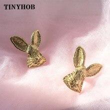 Bugs bunny knob e lidar com coelho de ouro lidar com gaveta nordic lidar com armário das crianças maçaneta da porta de latão maciço móveis puxar